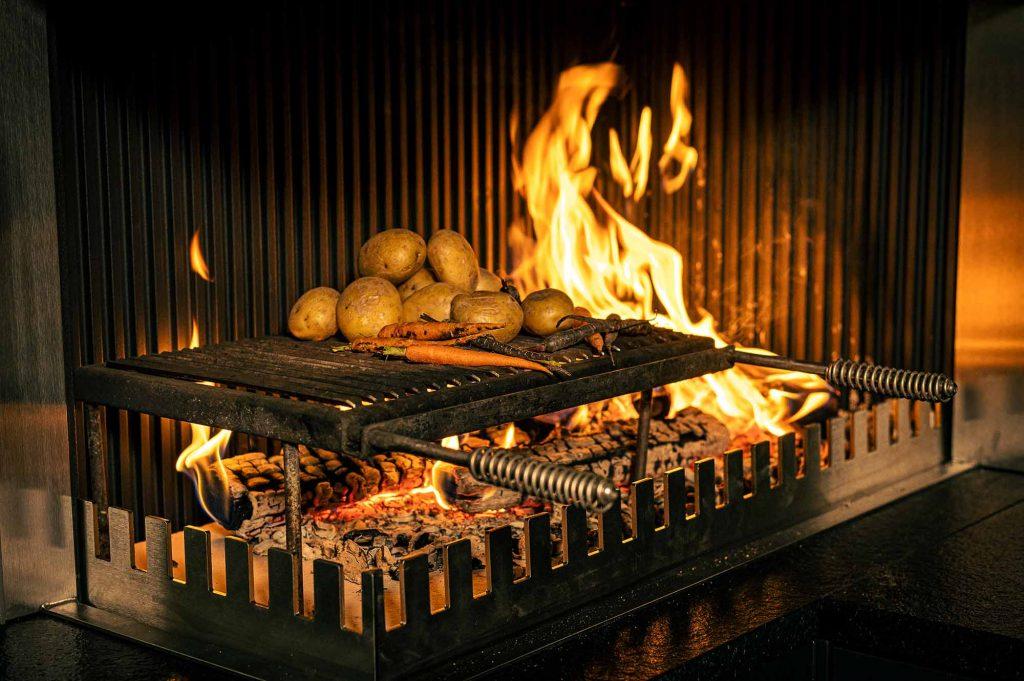 Zubereitung über dem Element Feuer