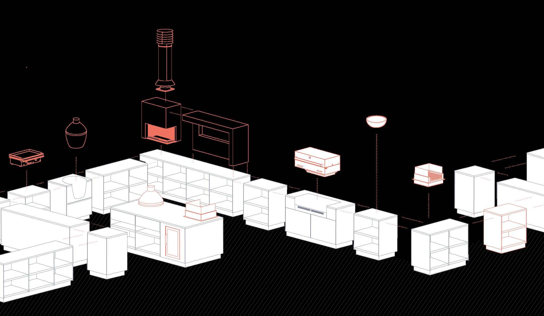 Freiluftküche Module